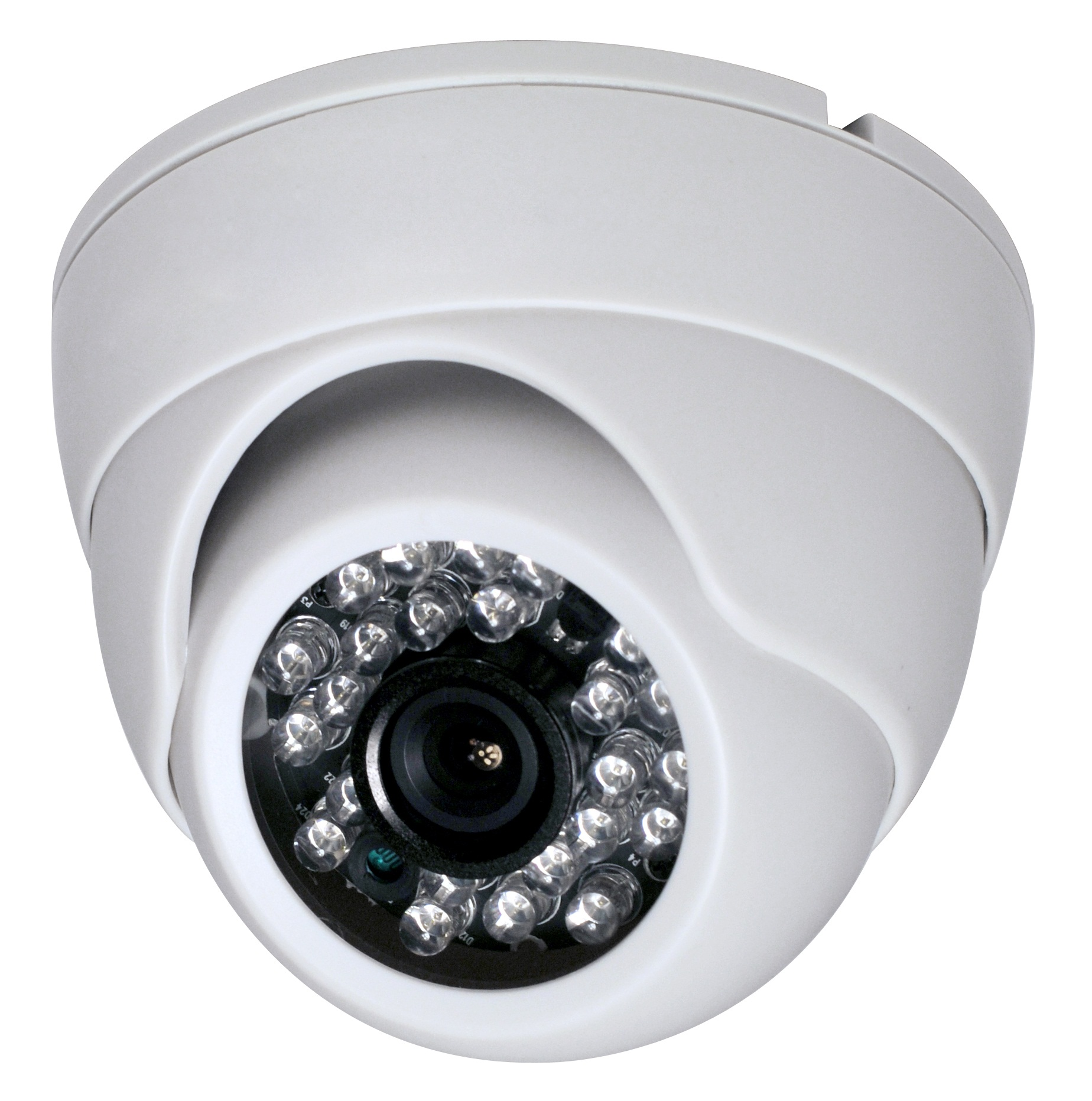 600TVL Fixed Lens 24IR Metal Dome camera