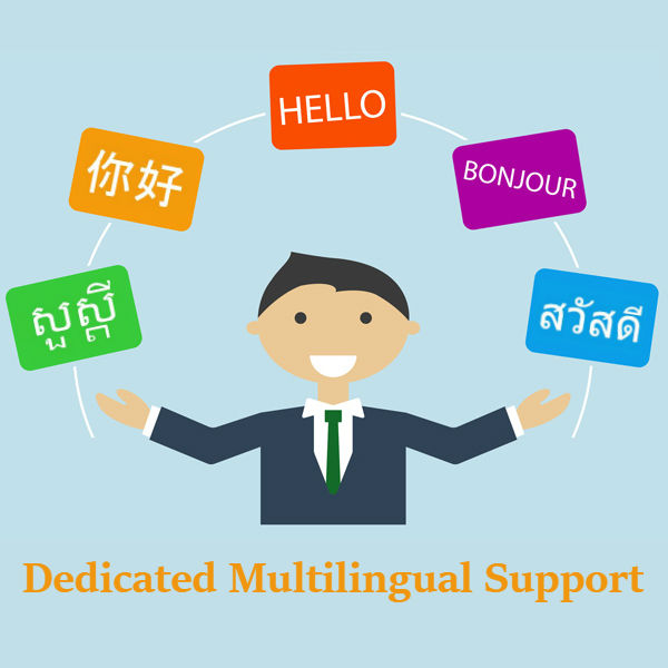 Dedicated Multilingual Support