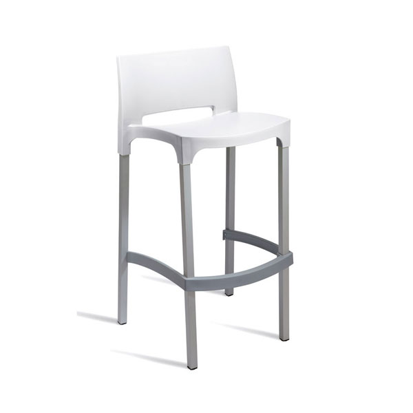 Outdoor Bud Bar Stool – White