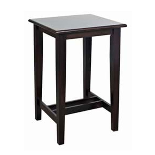 Square Shaker Poseur Table Dark Oak