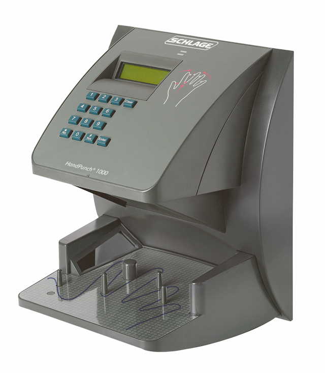 The HandPunch 1000 Hand Reader