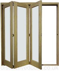 Door Slide Aside Oak Room Divider  Door Set