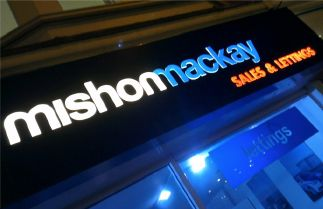 Mishon Mackay Estate Agents Internally illuminated signage