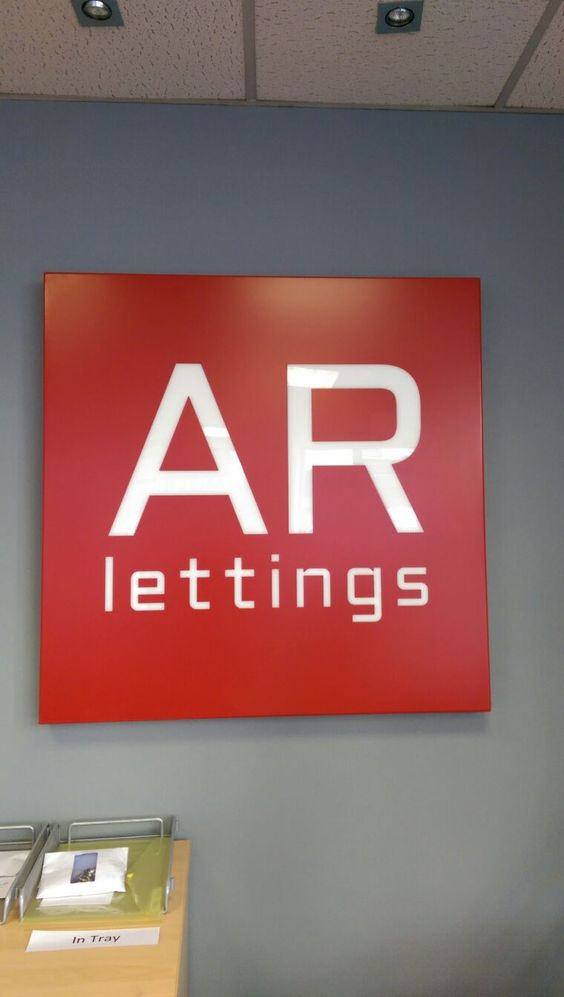 A R Lettings office signage